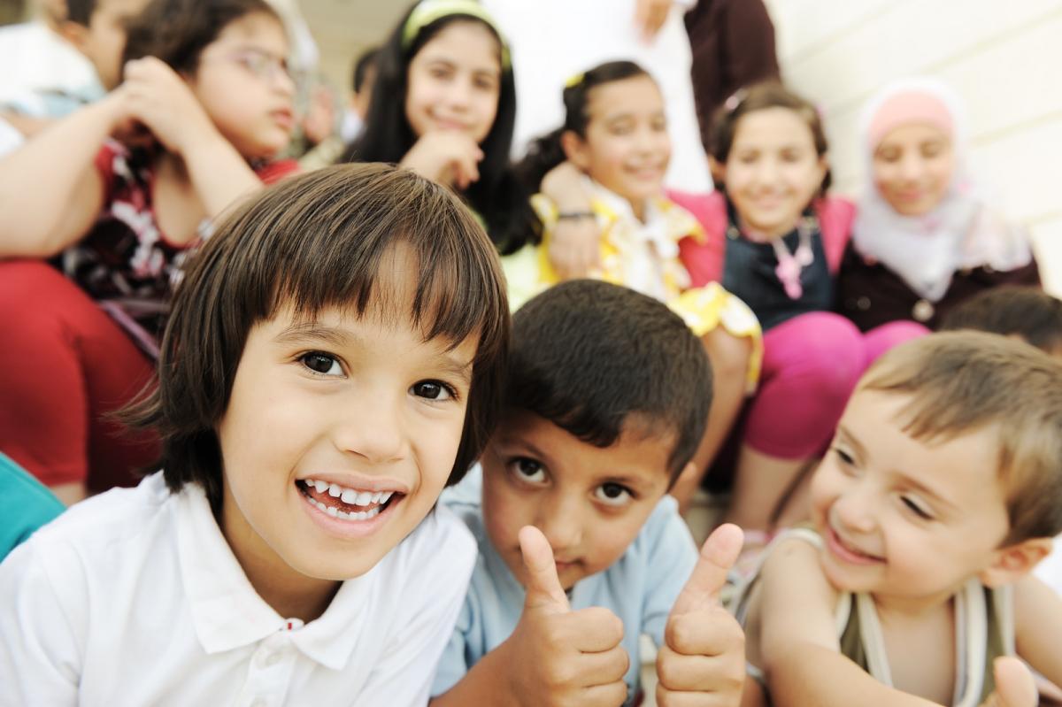 big changes in childrens  Happy Children In School