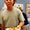 Bruce at  the University of Michigan Aphasia Program on Waffle Day!