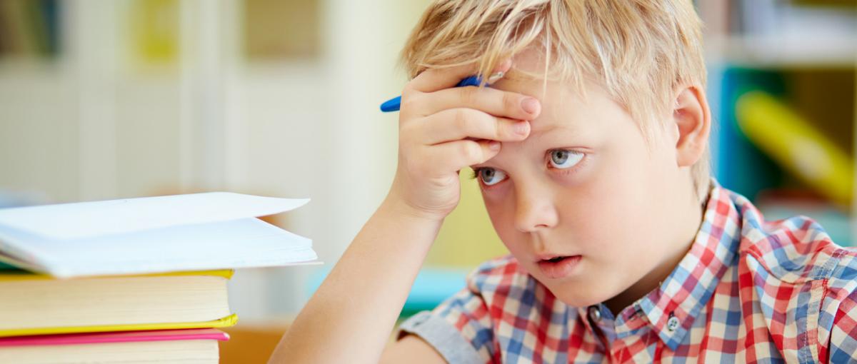 Boy in School - ADHD