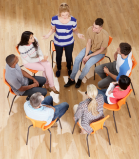 Group therapy - DBT groups are ongoing and help with treatment-resistant mental health challenges