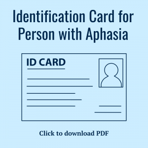 Aphasia ID Card Template