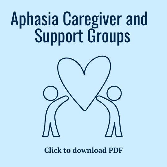 PDF of Aphasia Caregiver and Support Groups Resources