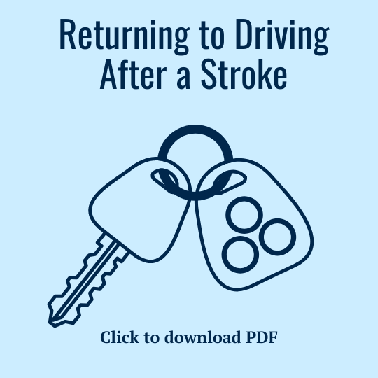 Returning to Driving After a Stroke PDF