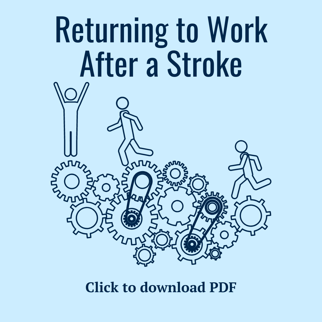 Returning to Work after a Stroke PDF