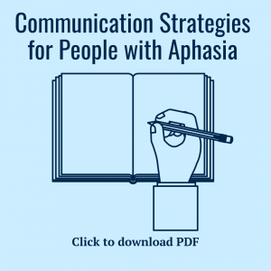 Tips for communicating with aphasia