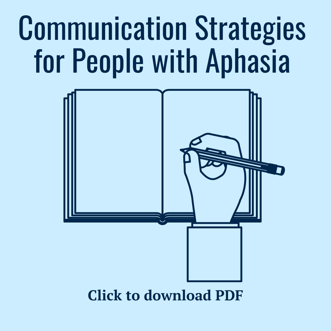 Communication Strategies for People with Aphasia PDF