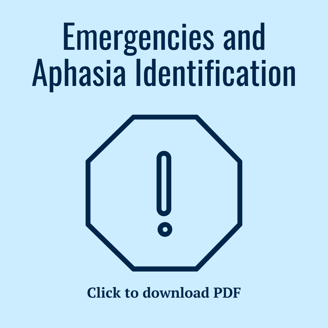 Emergencies and aphasia identification PDF