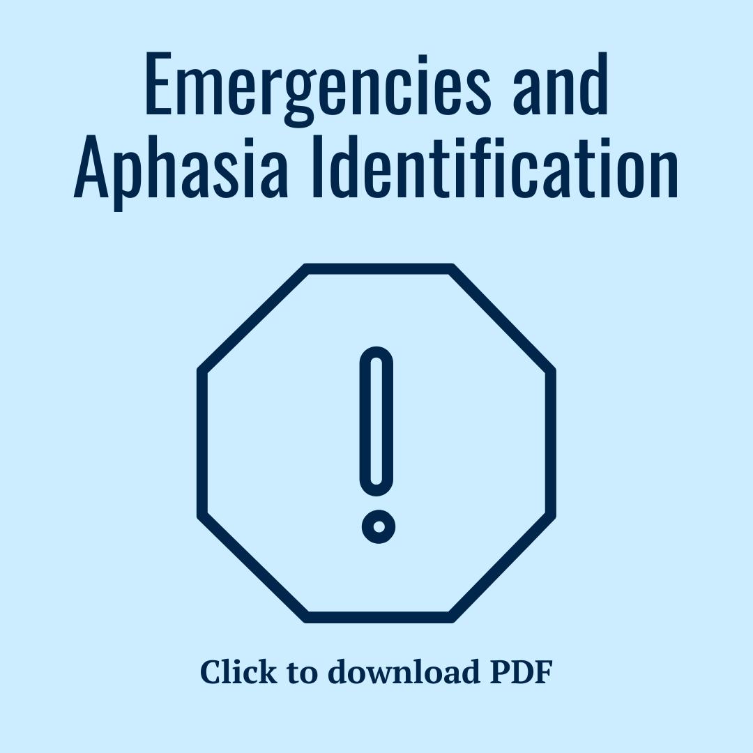 Emergencies and aphasia identification PDF
