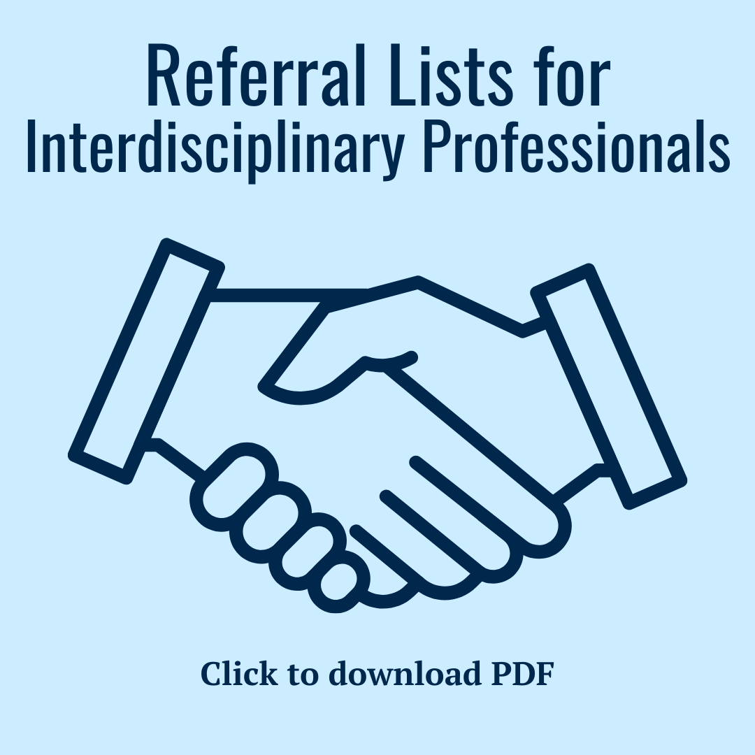Referral lists for interdisciplinary Professionals PDF