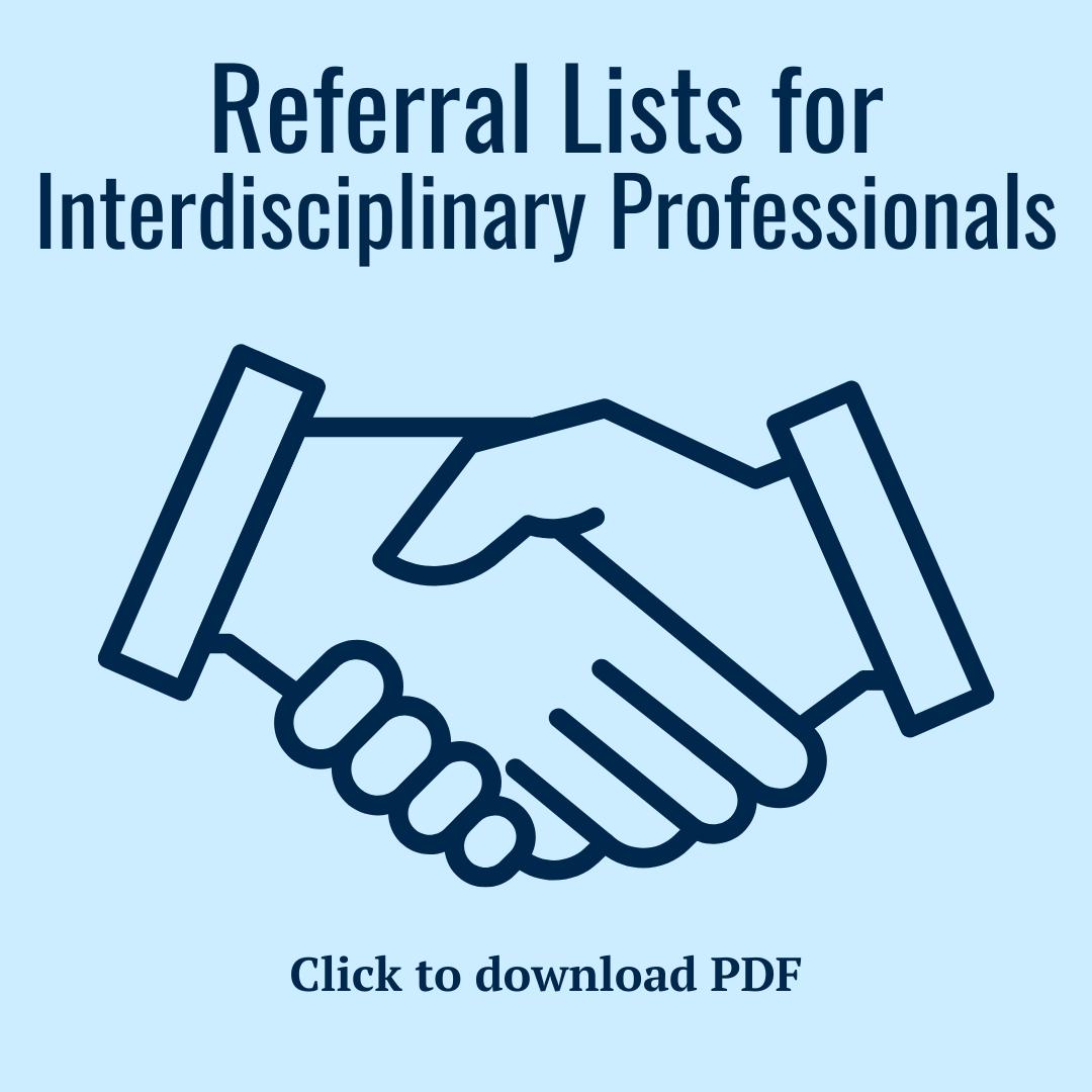Referral lists for interdisciplinary Professionals PDF