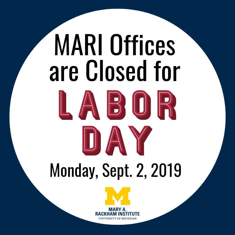 MARI closed for Labor Day Graphic