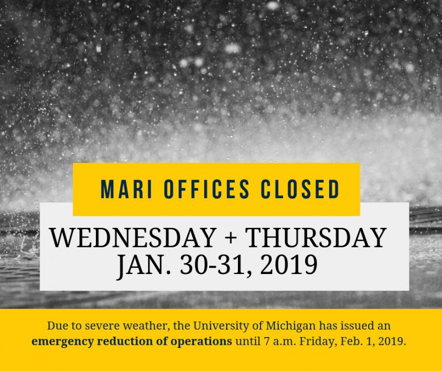 MARI closed Jan 30-31, 2019