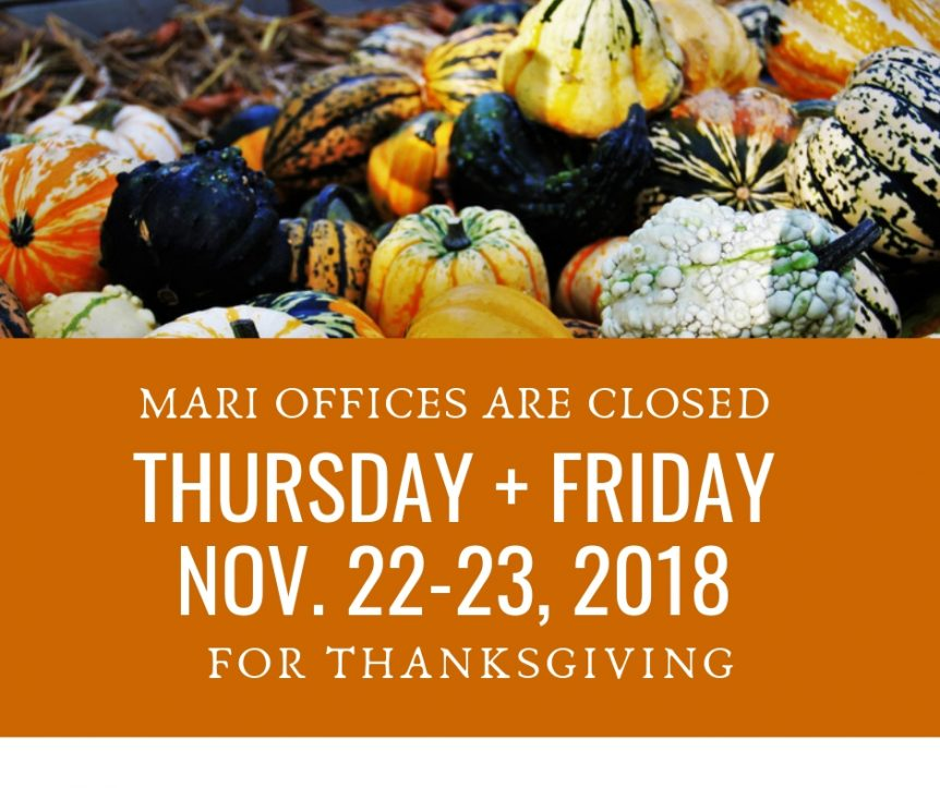 MARI Thanksgiving Hours