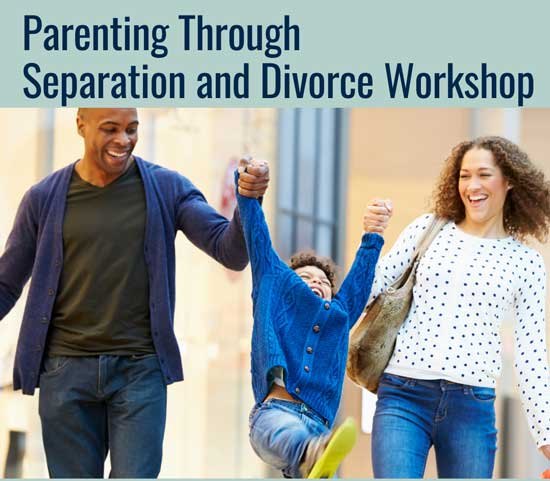 Parents working through separation and divorce graphic. Workshop in Oct.