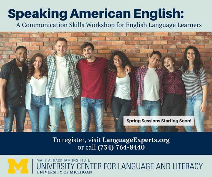 Speaking American English Workshop Spring 2020