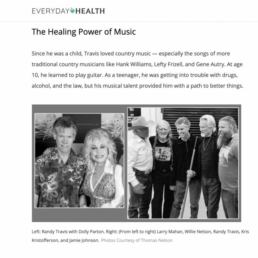 Randy Travis Article Image - Source: Everyday Health